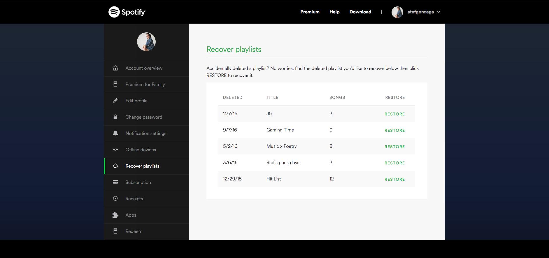 Spotify Screenshot Examples & Demo Videos | Zapier