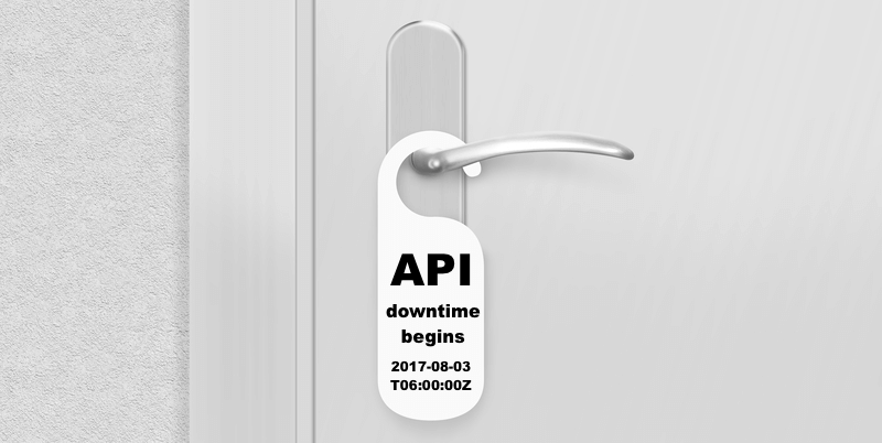 API downtime door hanger