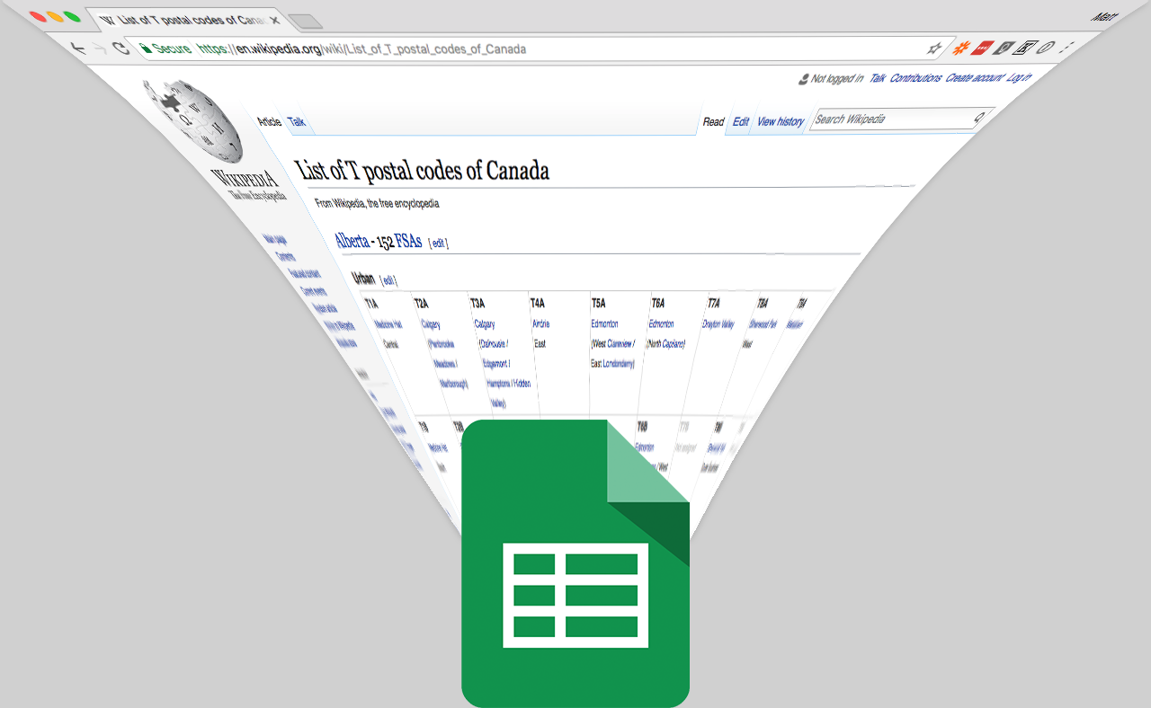 How to Import Data from Any Web Page into Google Sheets with