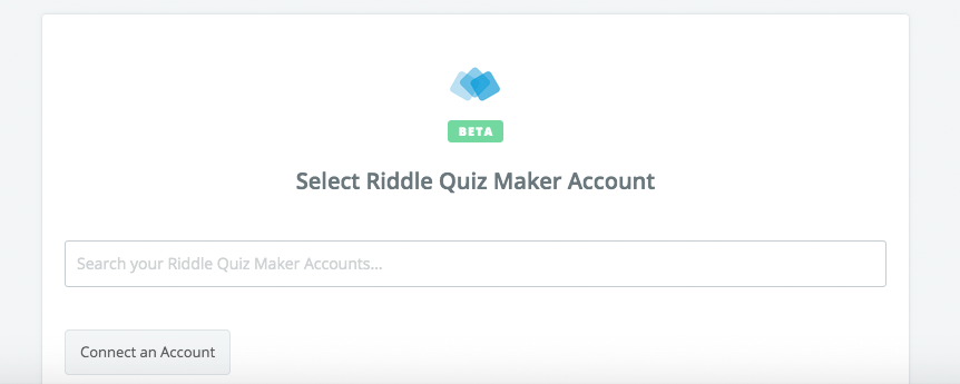 Click to connect Riddle Quiz Maker