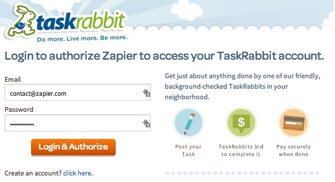TaskRabbit Login