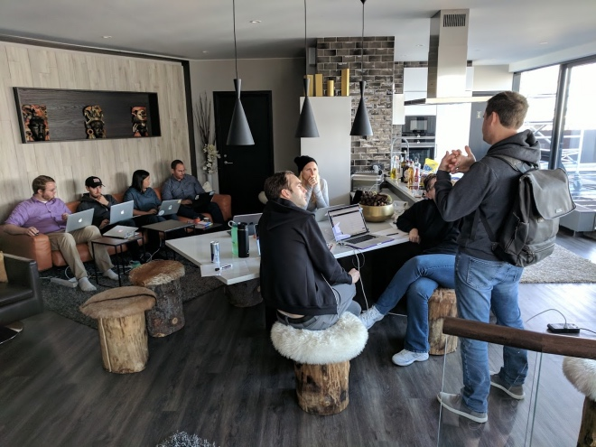 Customer.io bringing everyone together at one of their retreats.