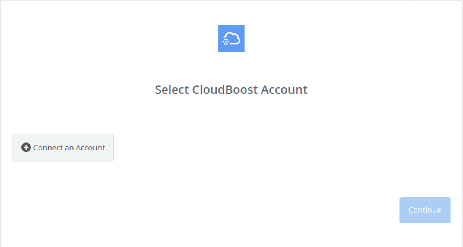Click to connect CloudBoost