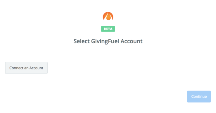 Click to connect GivingFuel