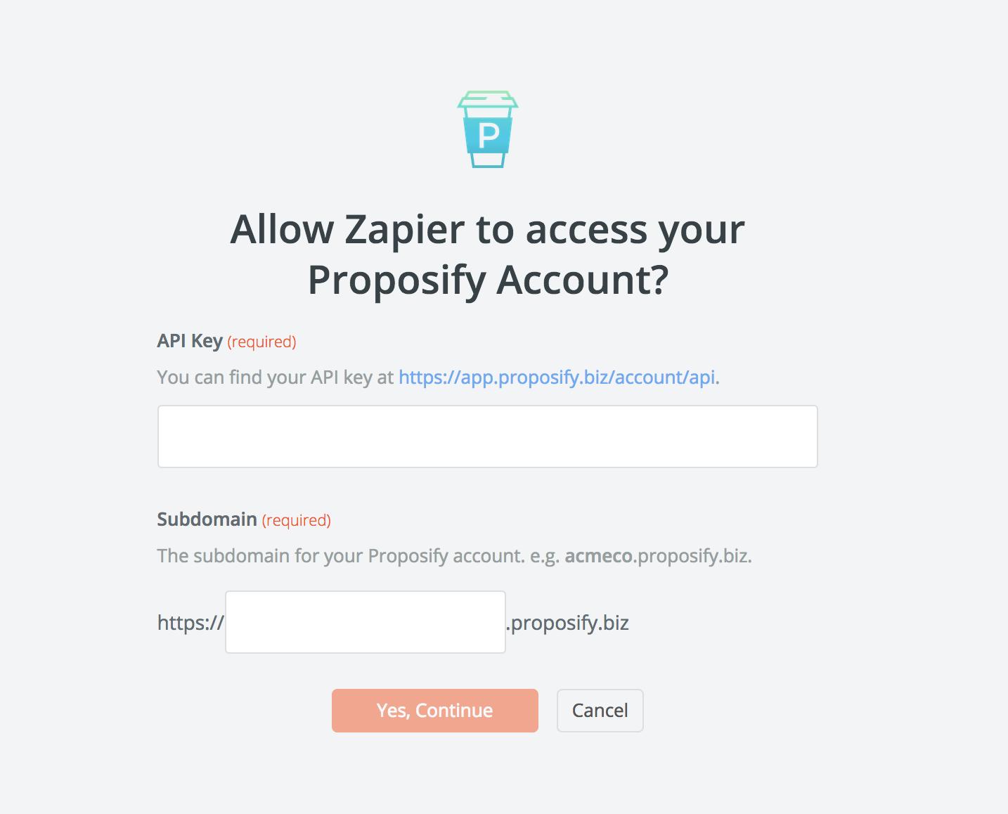 Proposify API Key