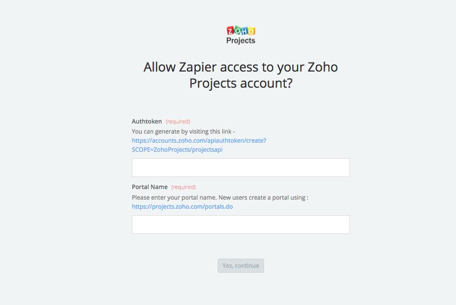 Zoho Projects API Key