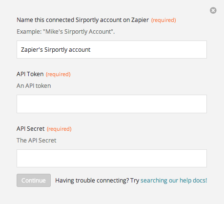 Finding your Sirportly API Token