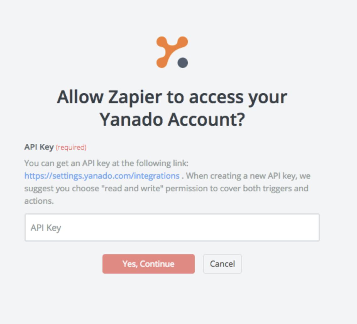 Yanado API Key