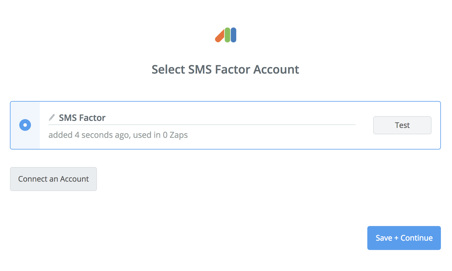 SMS Factor connection successfull