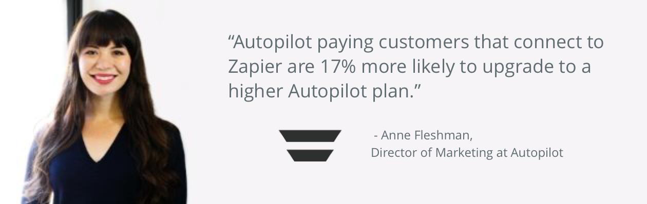 Autopilot Zapier testimonial