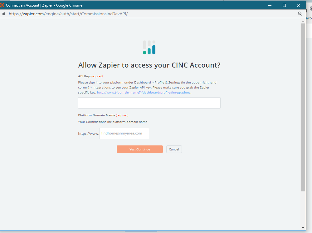 CINC API Key