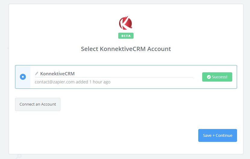 KonnektiveCRM connection successful