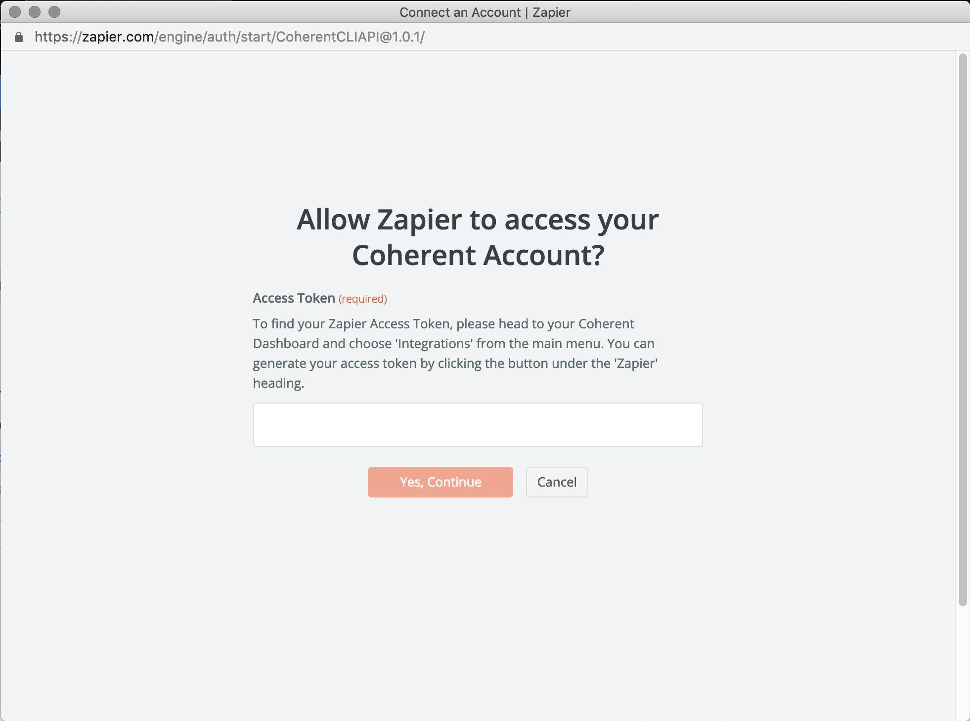 Coherent API Key