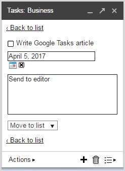 Add details Google Tasks