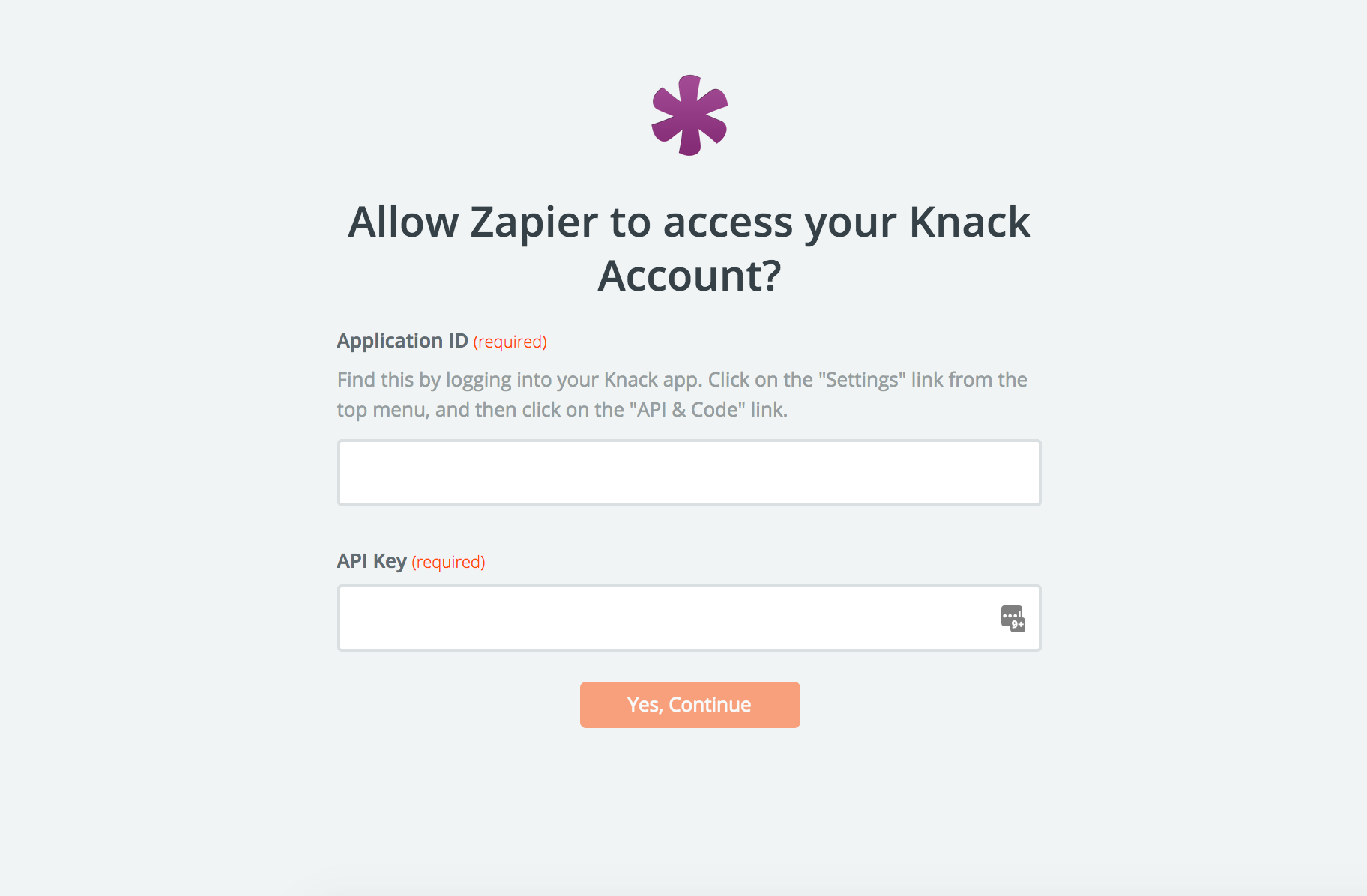 Now you may enter data into your text table - Now You Ll See Your Knack Account Connected To Zapier