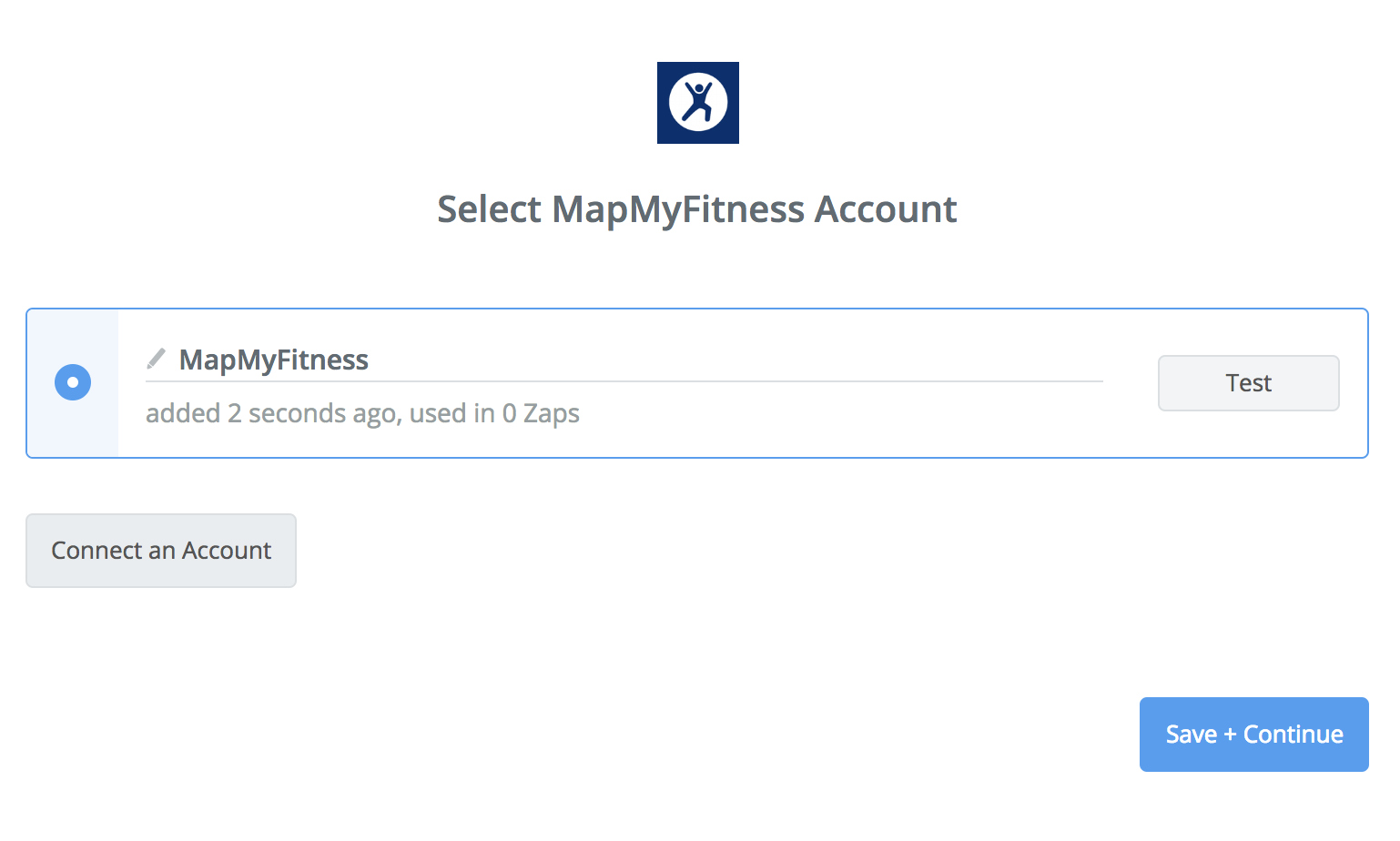 MapMyFitness connection successfull