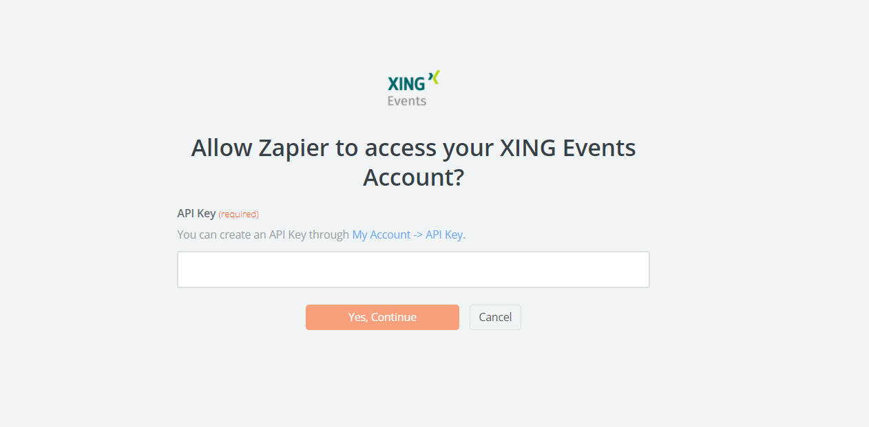XING Events API Key