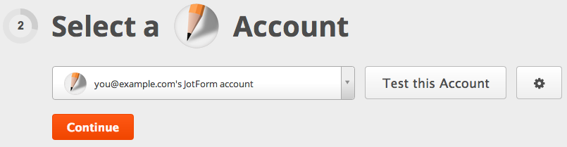 Click to add a different account