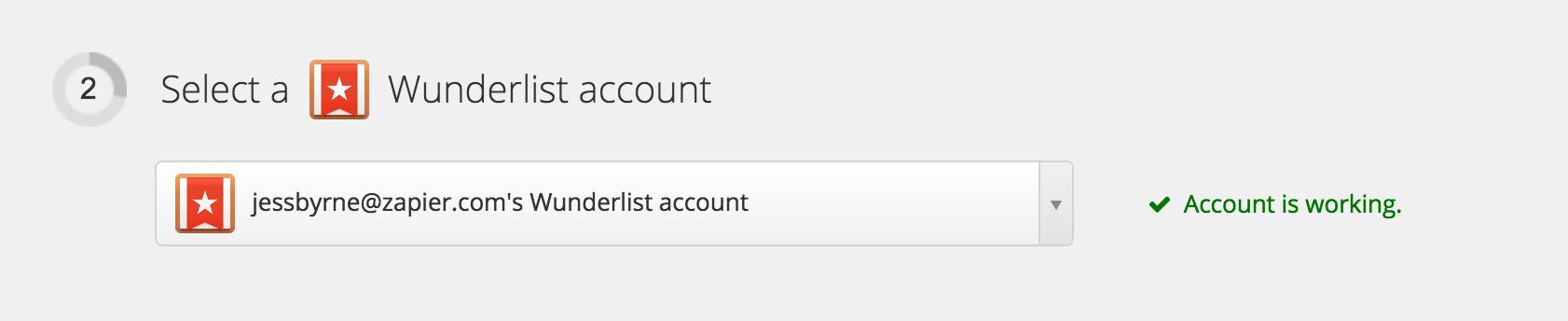 Wunderlist Account Test