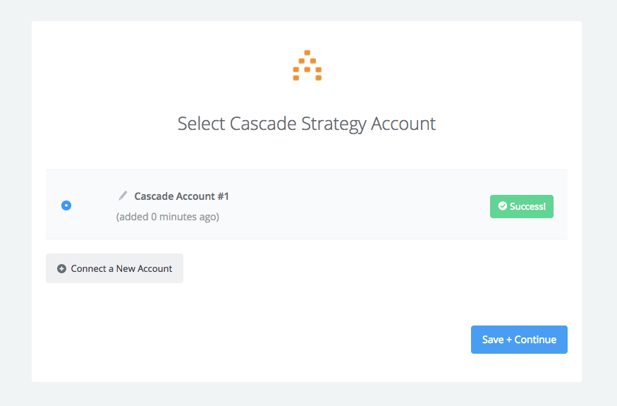 Cascade Strategy connection successfull