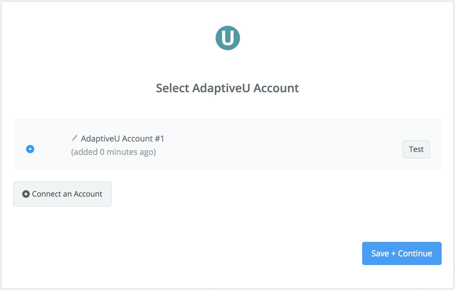 AdaptiveU connection successfull