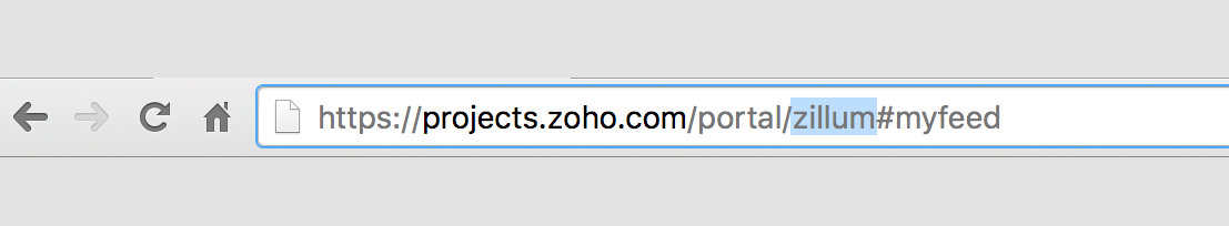 Zoho Projects API Key in Zoho Projects account