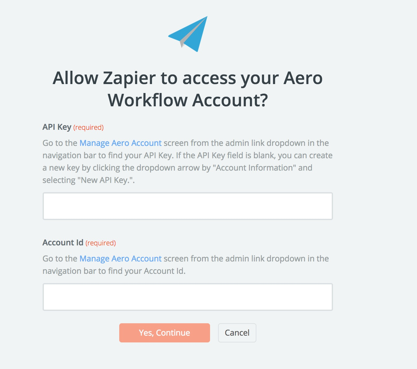 Aero Workflow API Key