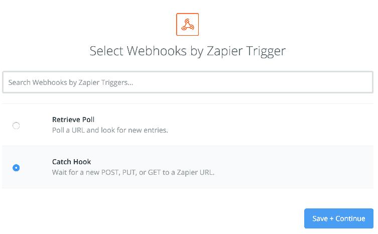 Webhook trigger