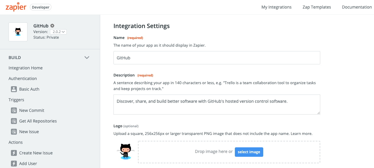 Update Zapier integration details