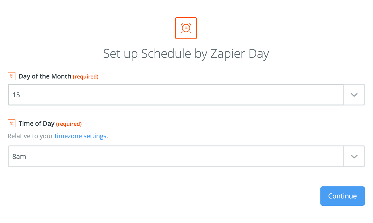 schedule integration help support zapier