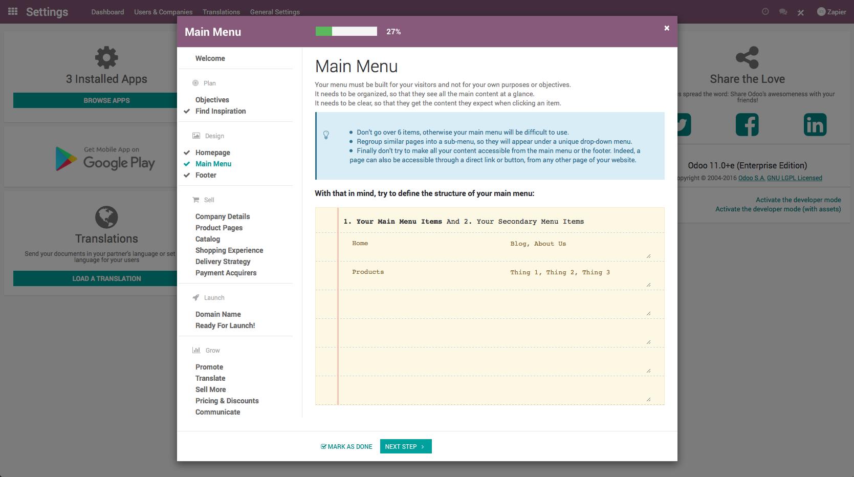 Odoo CRM Screenshot Examples & Demo Videos | Zapier