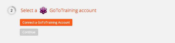 Click to add a GoToTraining account