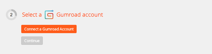 Click to add a Gumroad account