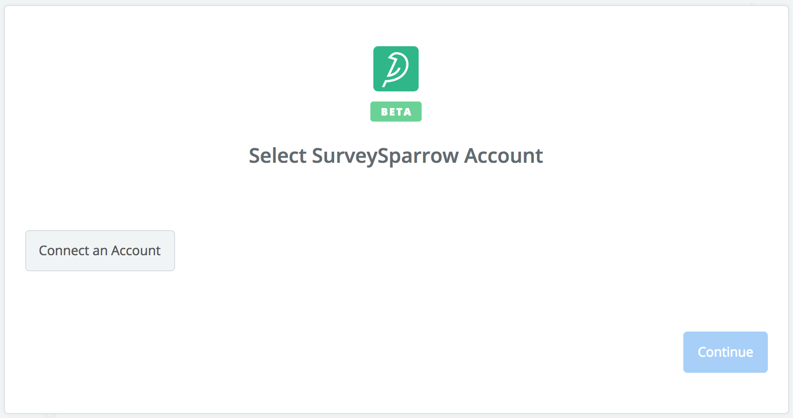 Click to connect SurveySparrow