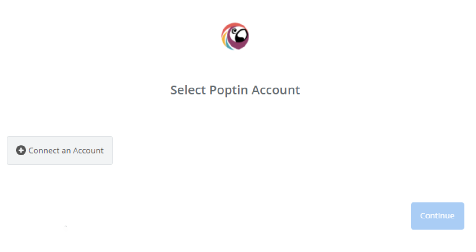 Click to connect Poptin