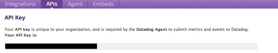 Grab your Datadog API Key