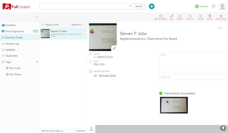 FullContact screenshot
