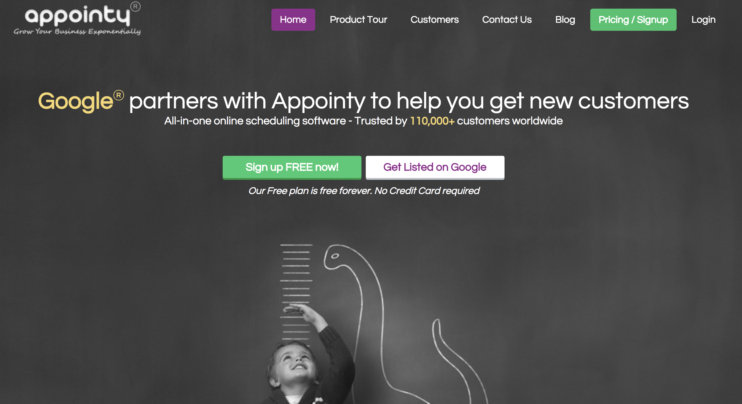 Appointy marketing page