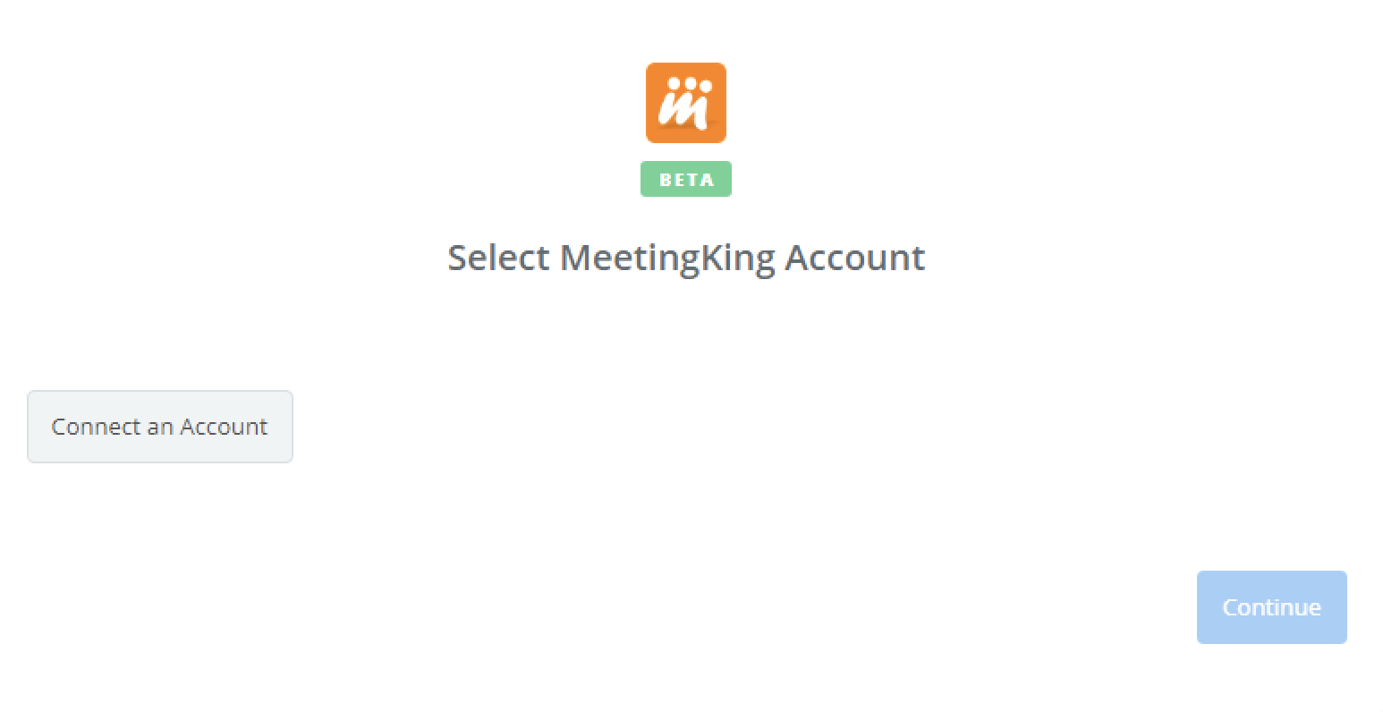 Click to connect MeetingKing