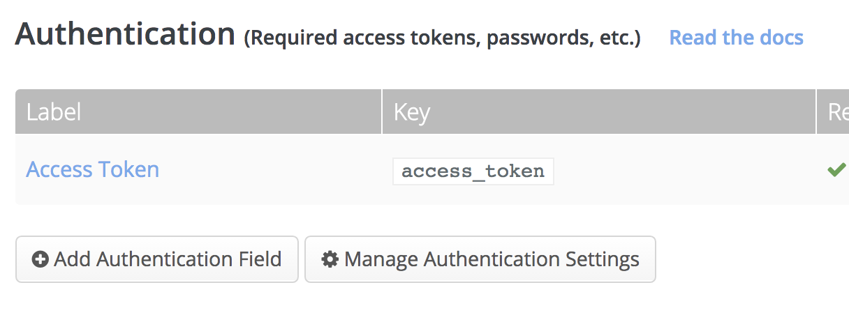 Manage authentication settings