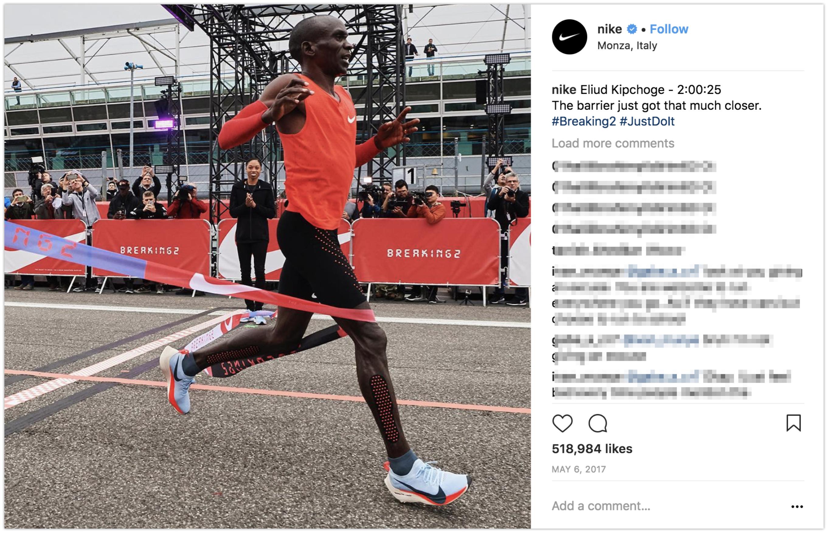 Instagram post from Nike