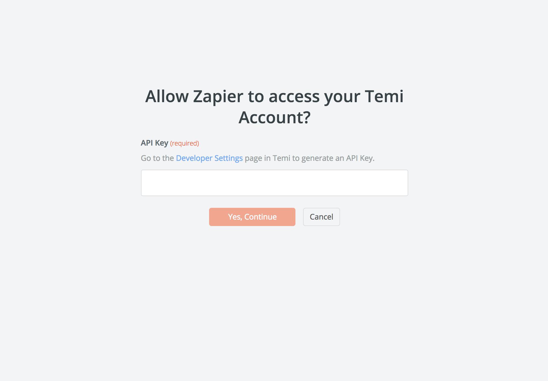 Temi API Key