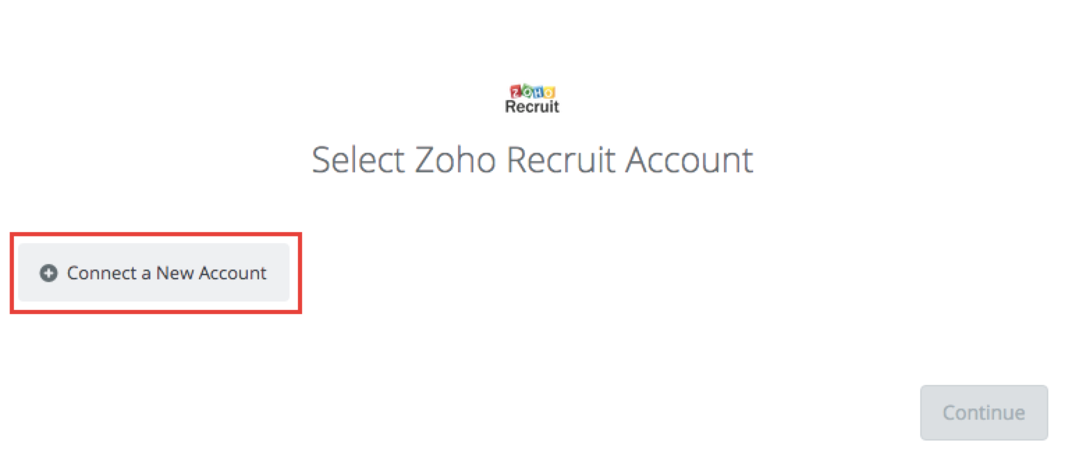Click to connect Zoho Recruit