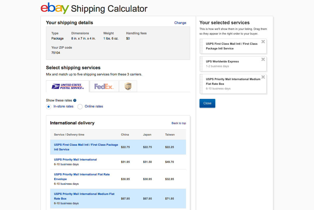 How to quickly find and compare express shipping rates geenschuldenfo Gallery