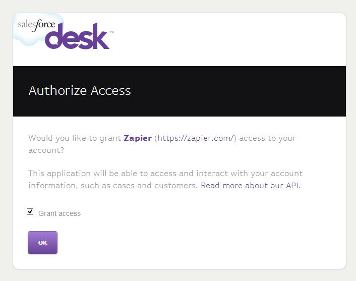 Grant Zapier access