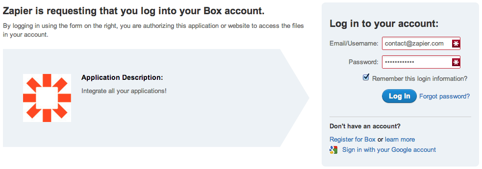 Log into Box