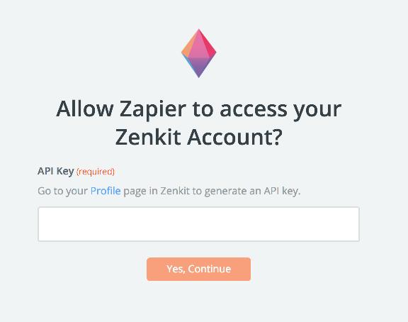 Zenkit API Key