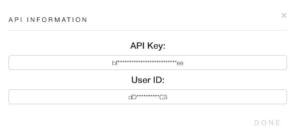 API Key in Hive account