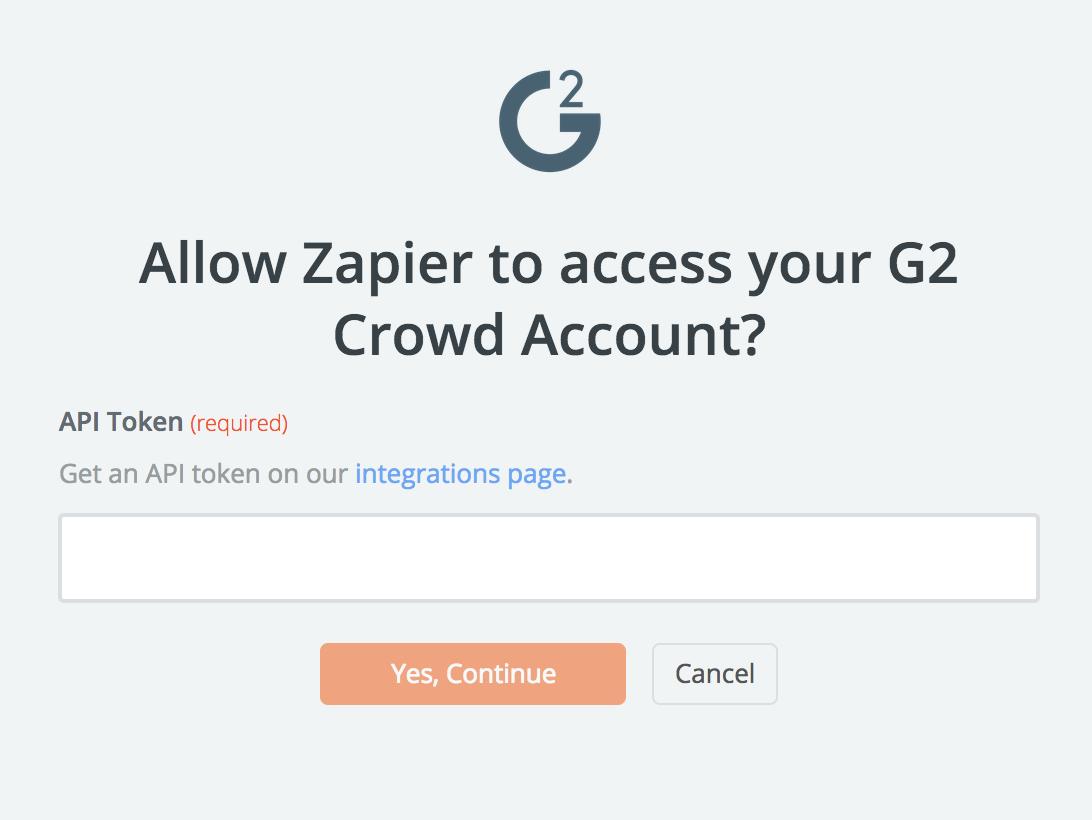 G2 Crowd API Key