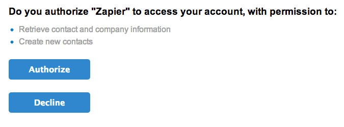 Authorize your Nimble account